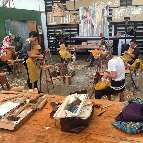 Image: Spoonsmith in the Koskela workshop. Courtesy Koskela.