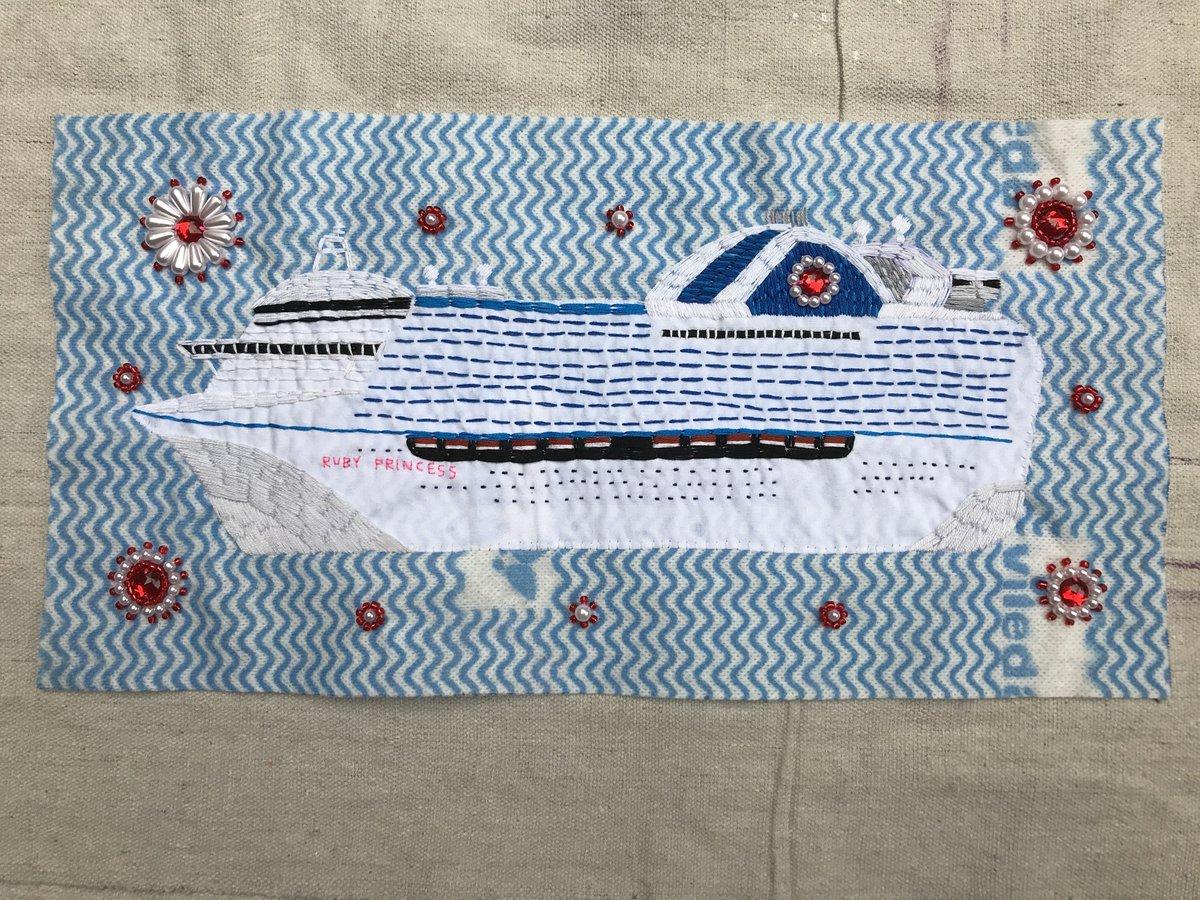 Anna Mould, Ruby Princess, 2020. Image courtesy of the artist Coronoa Quilt