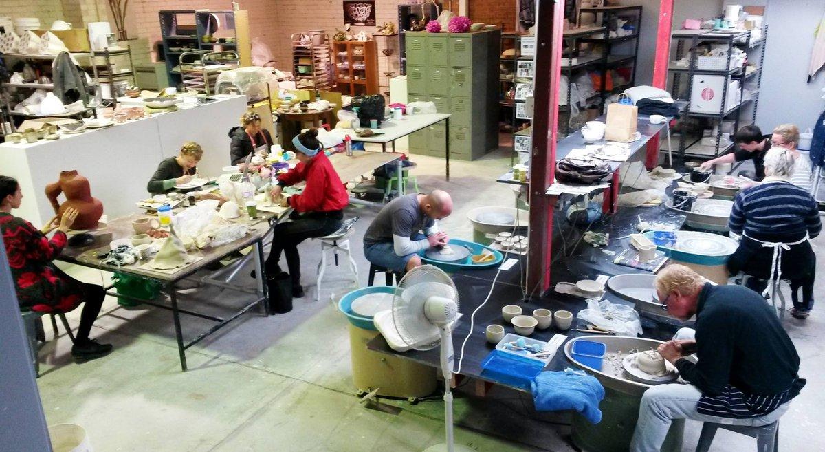 Image: Ceramic studio. Courtesy Claypool.