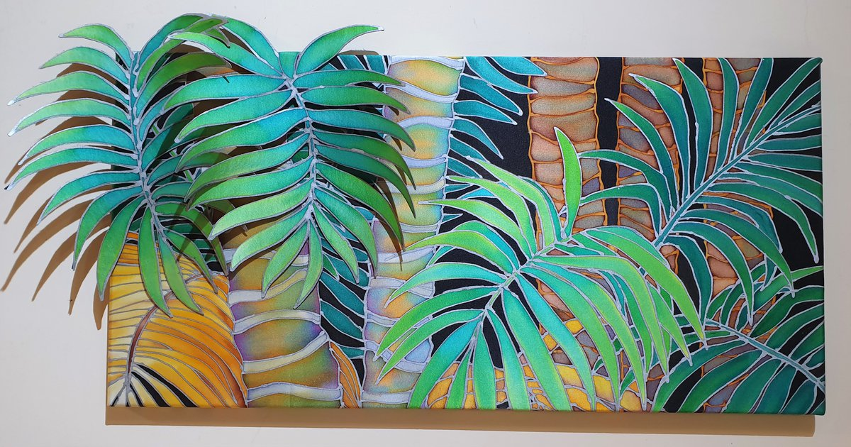 Jane Hinde, Kentia Palms Silk. Image courtesy of the artist