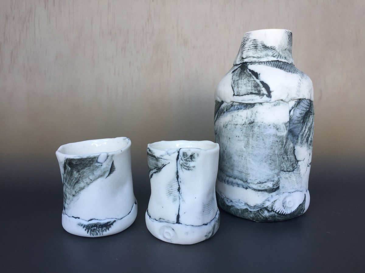 Jennifer Everett, Sake Set, 2019, Jennifer Everett
