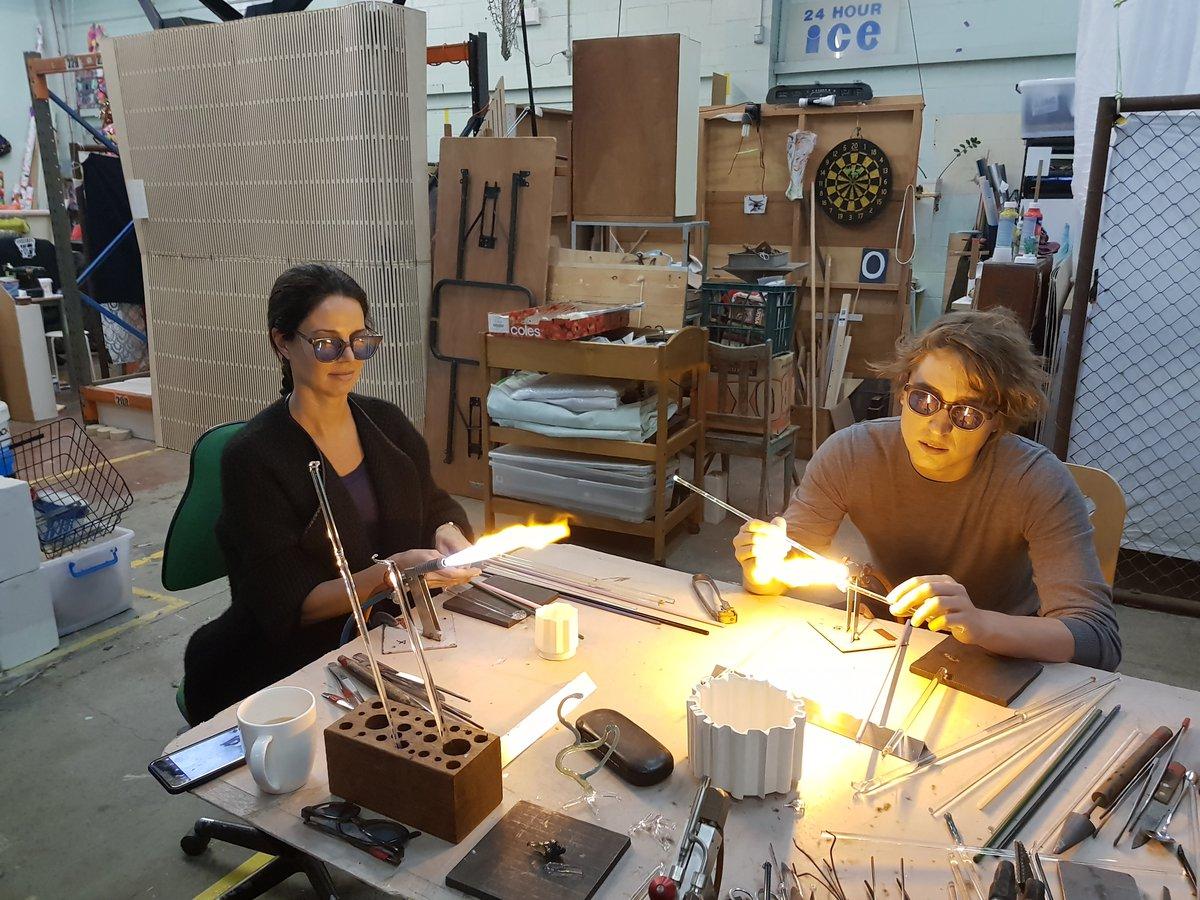 Image: Glass workshop. Courtesy Mark Eliott Glass Studio.