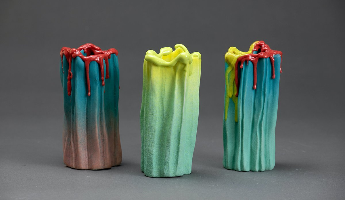 Kirsty Collins, Drippy Vases, 2020. Photo by  Matthew Syres Photography. jpg