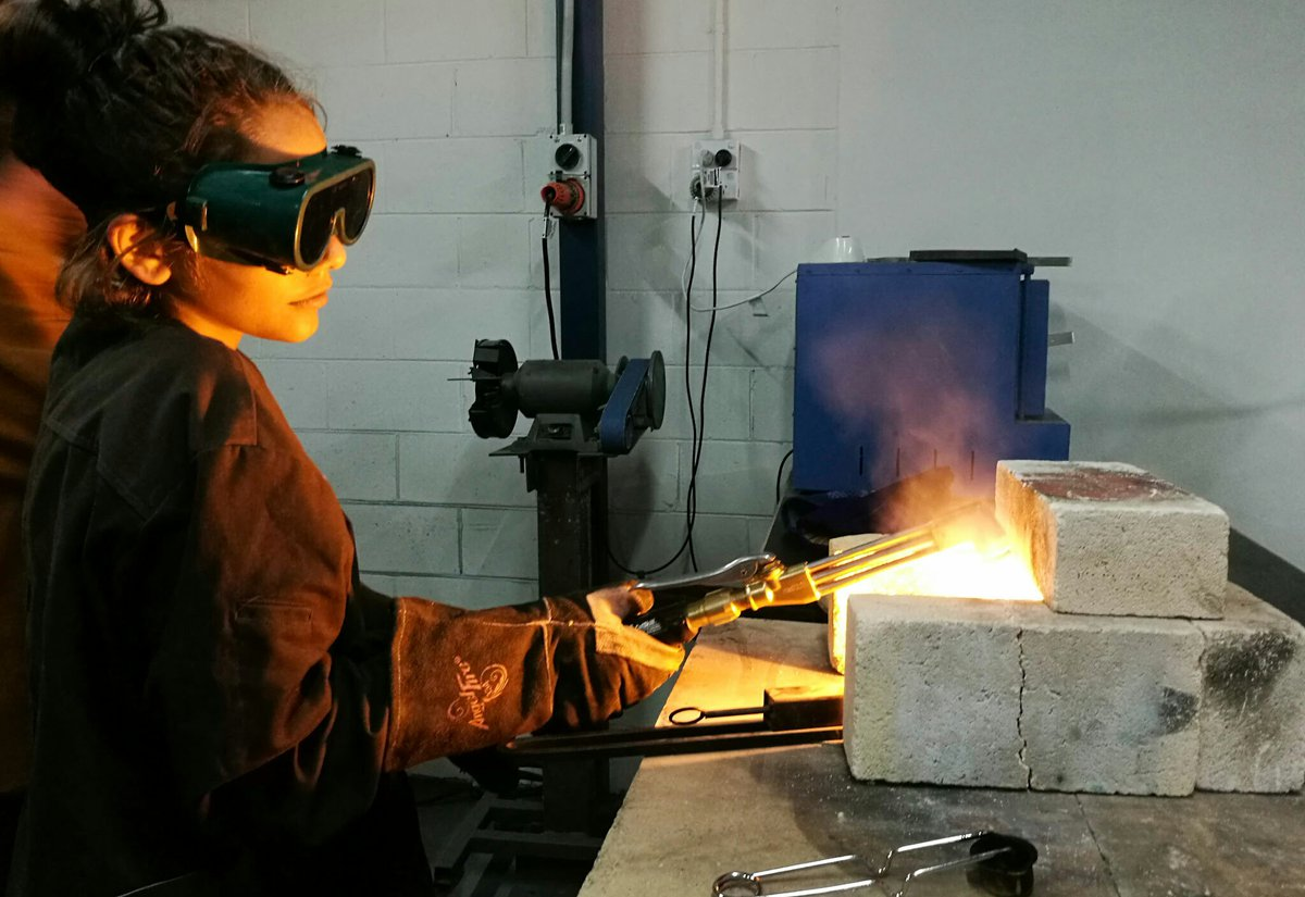 Maker Space & co sandcasting