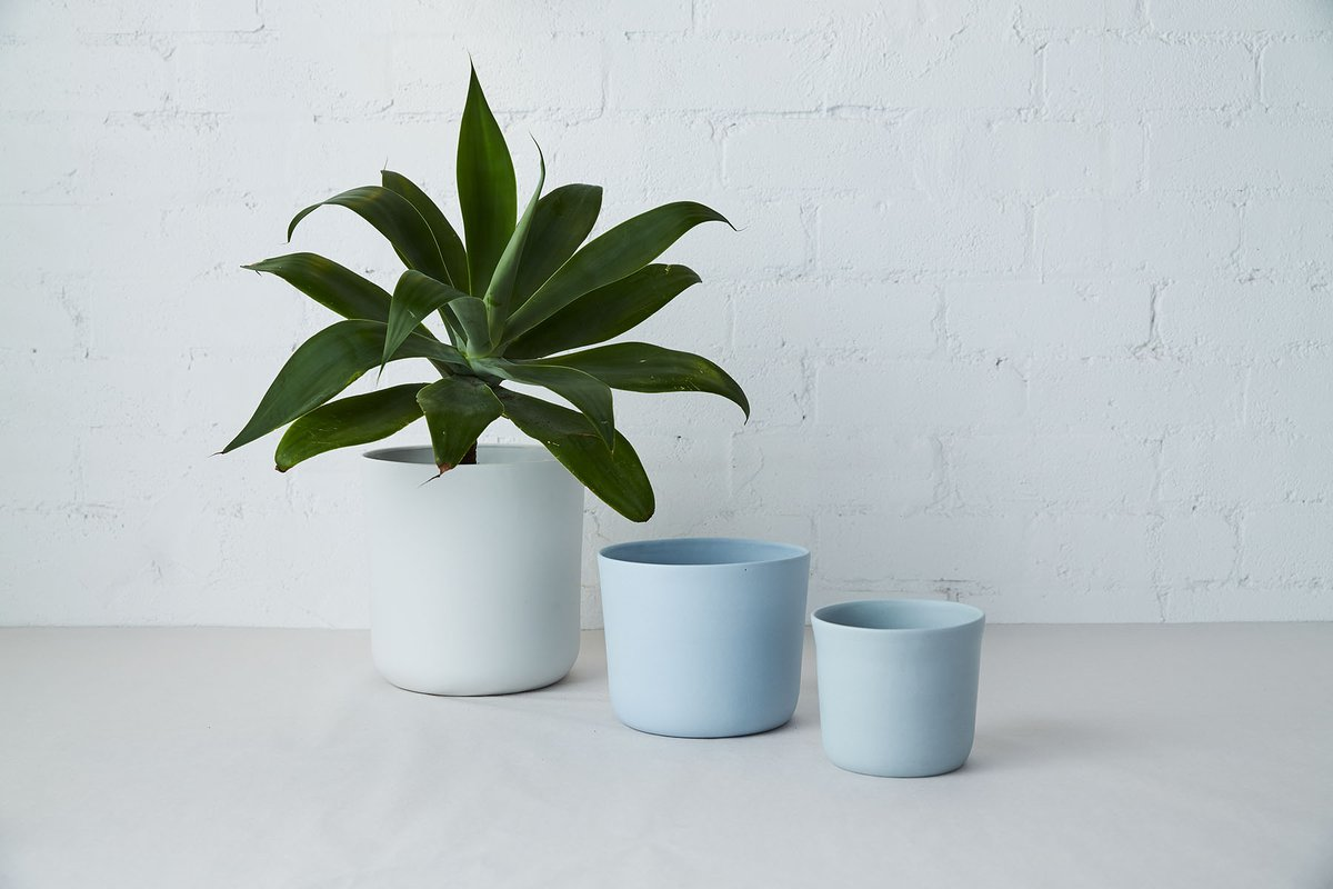 Porcelain Planters by Studio Enti - Photo by Nicholas Bowers