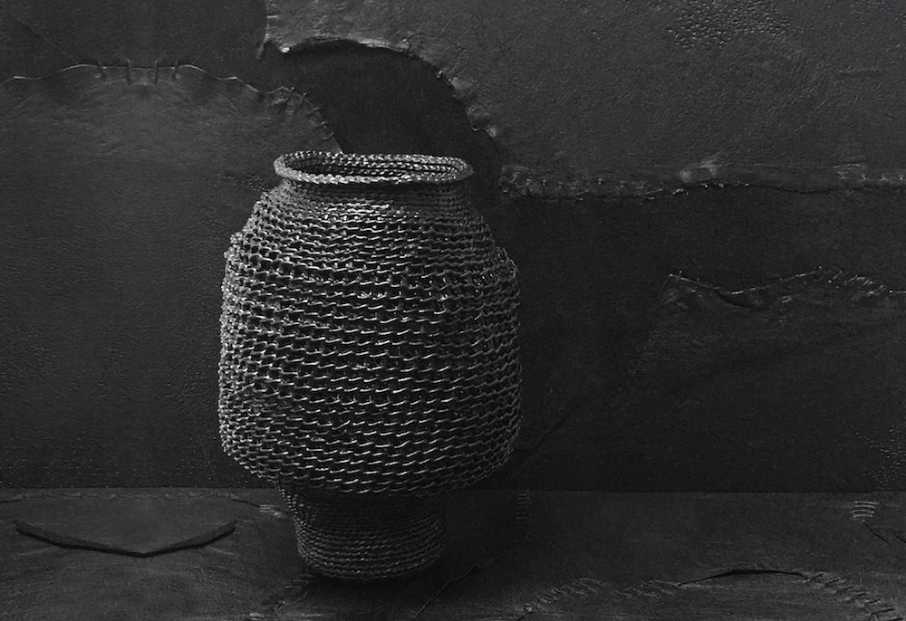 Accumula large black vessel by Lyn Balzer and Tony Perkins