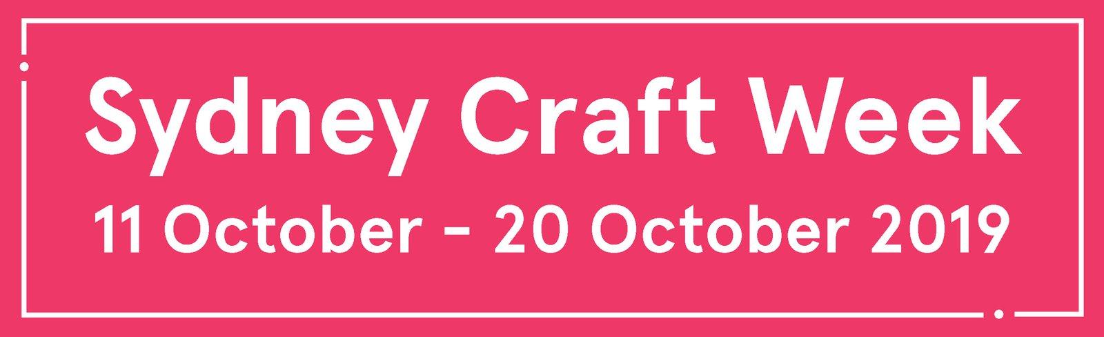 Sydney Craft Week 2019