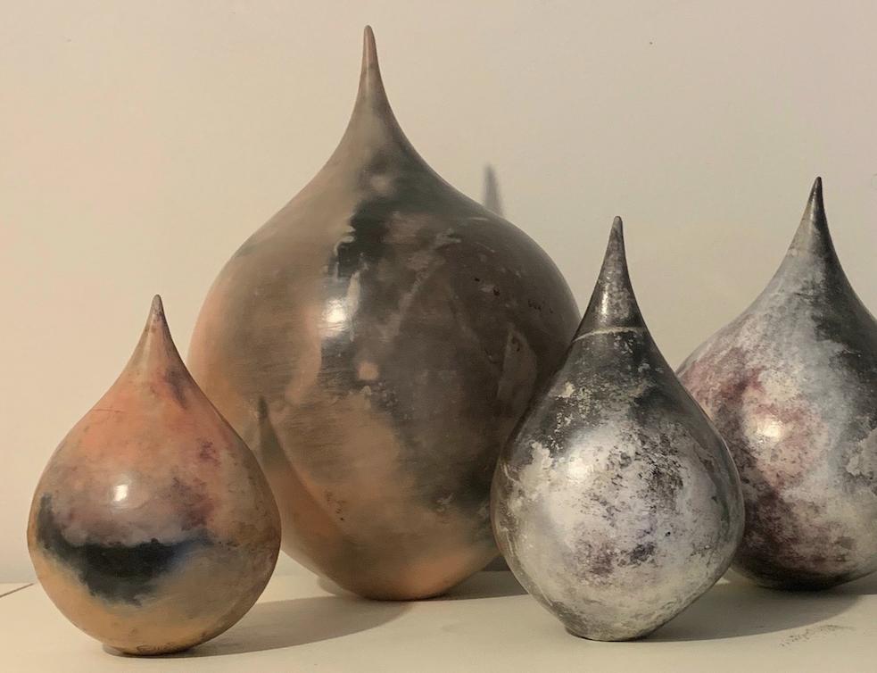 Rainstorm Series, Kim Seckold, Barrel fired Ceramics, Photo Credit Kim Seckold